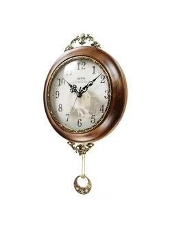 Часы настенные из натурального дерева Castita 003В
