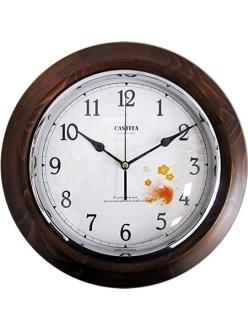Часы настенные классические из натурального дерева Castita 107В-32