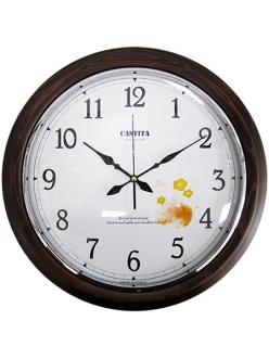 Часы настенные классические из натурального дерева Castita 107В-40