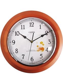 Часы настенные классические из натурального дерева Castita 107WD-32
