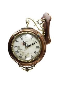 Часы двусторонние из натурального дерева Castita 708В