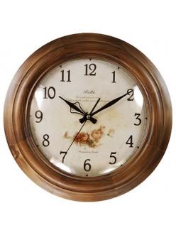 Часы настенные классические из натурального дерева Castita 001B