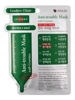 Leaders Derma Soul Anti-trouble Mask with Green tea Маска для лица Лидерс Клиник Дерма Соул для Проблемной кожи