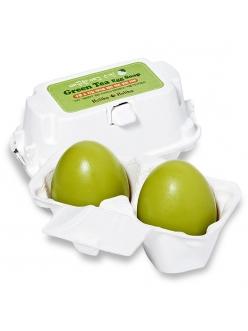 Holika Holika Green Tea Egg Soap Мыло-маска ручной работы с зеленым чаем (50г*2)