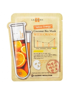 Leaders Insolution Coconut Bio Mask Bright with Orange Маска для лица Лидерс Био кокос Улучшение цвета лица с апельсином