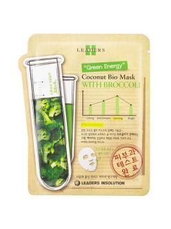 Leaders Insolution Coconut Bio Mask Soothing with Broccoli Маска для лица Лидерс Био кокос Успокаивающая с брокколи