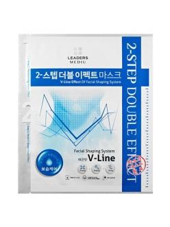 Leaders Mediu 2-Step Double Effect V-Line Moisturizing Mask Маска для лица и подбородка (2в1) Увлажняющая