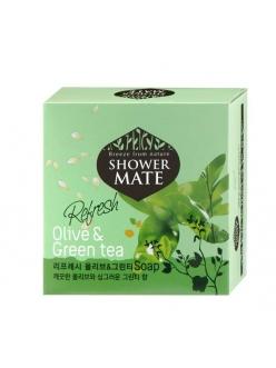 Shower MATE Olive&Green tea Косметическое мыло Шауэр Мэйт Оливки и зеленый чай