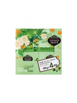 Shower MATE Olive&Green tea Косметическое мыло Шауэр Мэйт Оливки и зеленый чай набор