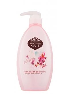 Shower MATE Rose &Cherry blossom Гель для душа Шауэр Мэйт  Роза и Вишневый цвет 550 мл