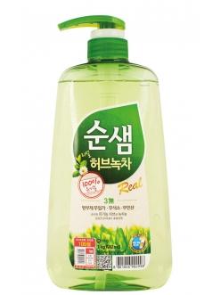 Soonsaem Real Herb Green Tea Сунсэм Средство для мытья посуды Зеленый чай