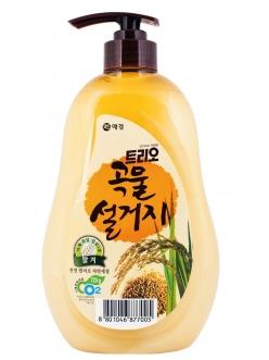 TRIO Rice bran Трио Средство для мытья посуды Рисовые отруби, 750 мл